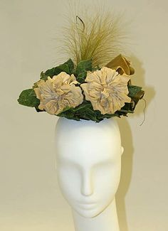 The Metropolitan Museum Mobile - Art Object Victorian Hats, Victorian Fashion, Vintage Fashion, 1890s Fashion, Mobile Art, Antique Clothing, Floral Hair, Vintage Outfits, Vintage Hats