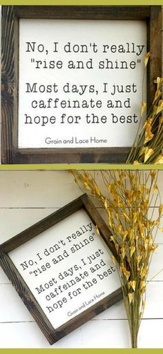 My morning ritual simply stated… Coffee Bar Sign, Coffee Sign, Coffee Stat… – Famous Last Words Coffee Station Kitchen, Coffee Bars In Kitchen, Coffee Stations, Kitchen Decor Signs, Farmhouse Kitchen Decor, Rustic Farmhouse, Kitchen Wood, Farmhouse Style, Farmhouse Plans