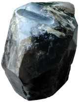 Smoky quartz  crystal sculpture Eli Tanna,  Gemstone contemporary art  sculptor
