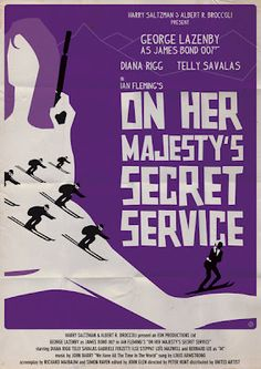 James Bond: On Her Majesty's Secret Service 1969 Peter Roger Hunt George Lazenby & Diana Rigg as Comtesse Teresa « Tracy James Bond Movie Posters, James Bond Books, James Bond Movies, Movie Poster Art, Poster On, Cinema Posters, Gentlemans Club, Casino Royale, Detective