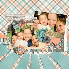 2 image digital scrapbooking layout. credits: Perfect Mother by Meghan Mullens, Brand new Day Templates by Southern Serenity Designs