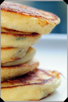 Delightfully fluffy, souffle-like potato pancakes. Perfect for Sunday brunch.