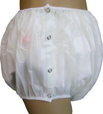 Baby Pants Milky White Tuffy Adult Snap-on Plastic Pants - Large Plastic Aprons, Plastic Pants, Newborn Diapers, Cloth Diapers, Pvc Hose, Waterproof Pants, Baby Pants, Culottes, Pink White