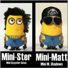 Avenged Sevenfold minions Mini M.Shadows and Mini Synyster Gates