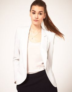 ShopStyle: ASOS Tailored Blazer With Power Shoulders