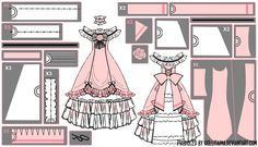 Ciel Phantomhive Ballgown Cosplay Pattern Draft by Hollitaima on DeviantArt Ciel Cosplay, Lolita Cosplay, Cosplay Anime, Cosplay Diy, Cosplay Outfits, Costume Patterns, Coat Patterns, Doll Clothes Patterns, Sewing Patterns