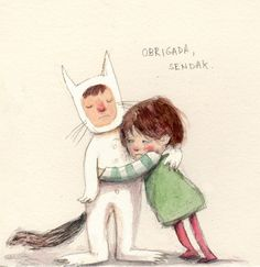 Illustration by Taline Schubach  ||  Tribute to Maurice Sendak  (June 10, 1928 – May 8, 2012).