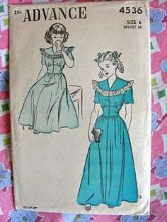 Vintage 1940's Advance Pattern 4536  SWEET Toddler by anne8865, $14.00