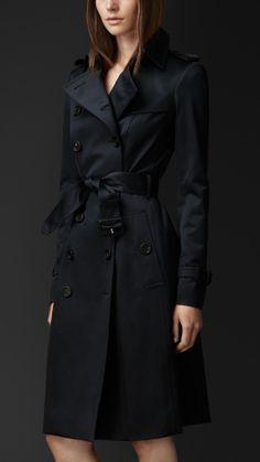 Trench coat in satin di cotone | Burberry