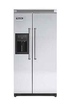Professional 36 Inch Side by Side Refrigerator with Water Dispenser - Viking Range, LLC Side By Side Refrigerator, French Door Refrigerator, Viking Range, Water Dispenser, Locker Storage, Kitchen Appliances, Home Decor, Diy Kitchen Appliances, Home Appliances