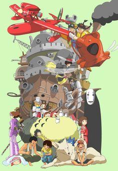 Studio Ghibli collage