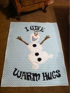 Quilting Together: Post 46- Disney Frozen Olaf Quilt