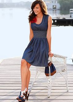 Round neck denim dress from VENUS women's swimwear and sexy clothing. Order Round neck denim dress for women from the online catalog or Sleeveless Denim Dress, Jeans Dress, Sweater Dresses, Strapless Dress, Cute Dresses, Cute Outfits, Summer Dresses, Women's Dresses, Casual Dresses