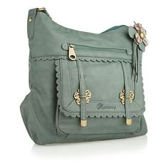 Green scalloped trim tote bag by babujee