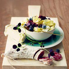 tagliatelle with poppy seeds Chutney, Summer Treats, Eat Smarter, Kiwi, Panna Cotta, Food Photography, Pudding, Yummy Food, Ethnic Recipes