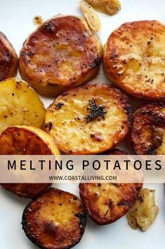 potato recipes Melting potatoes are a must-try food trend. this simple technique for creamy, caramelized potatoes that will take your weeknight dinners to the next level. Gold Potato Recipes, Russet Potato Recipes, Scalloped Potato Recipes, Baked Potato Recipes, Simple Potato Recipes, Simple Cooking Recipes, Recipes With Potatoes, Melting Potatoes Recipe, Potato Meals