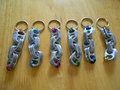 Pop tab key rings. $3.00, via Etsy.