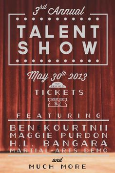 Promo Poster For Talent Show On Behance   Pinteres