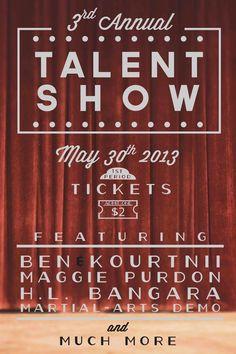Hl Talent Show 2017 On Behance Kids Poster Layout