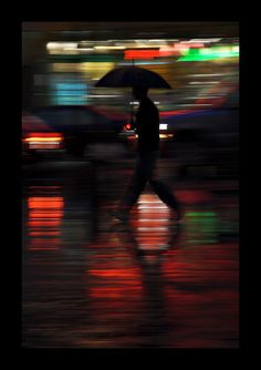 Colors in a rainy night, Montreal, Canada Copyright: Claire VC (Clairedelune)