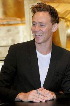 Tom Hiddleston. LOVE his hair! it's almost like Matt smith and David tenement kinda mixed together almost.