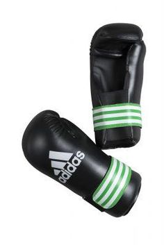 ADIDAS SEMI CONTACT GLOVES PRO: Black/Green