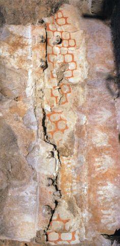 Çatalhöyük, VI.B 8 duvar resmi. James Mellaart (Erdinc Bakla archive)