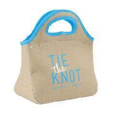 Personalized Burlap Lunch Bag  #burlap #backtoschool