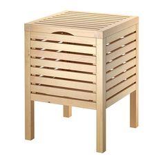 MOLGER Taburet med opbevaring - birk  - IKEA