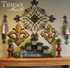Old World Style Tuscan Mantle (Savvy Seasons by Liz) French Country Decorating, Mantle, Old World Style, Country Decor, World Decor, Decor Guide, Home Decor, Traditional Decor, Tuscan Decorating