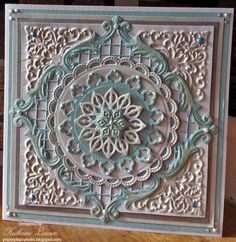 Blue and Silver Filigree Card by kathi17