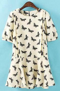 Sweet Flounce Butterfly Dress——OASAP.COM