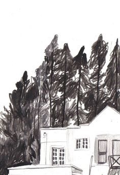 Kirsten Sims: Postcards from the Outskirts of Paradise Ink Illustrations, Illustration Sketches, Drawing Sketches, Art Drawings, Monochrom, Beautiful Drawings, Art Sketchbook, Art Inspo, Painting & Drawing