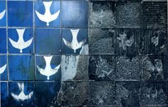 Ceramic tiles by Athos Bulcão Stenciled Floor, Tile Art, Wall Tiles, Handmade Tiles, Fresco, Art Reference, Ceramics, Crafts, Frida Kahlo
