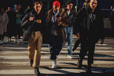 Street style à la Fashion Week homme automne-hiver 2018-2019 de New York