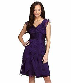 Mom's MoB dress | Adrianna Papell Tiered Chiffon Dress