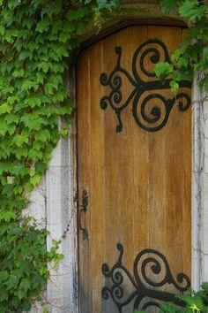 Monastary Wood Door Iron Hinges 5x7 Fine Art Photographic Print. $7.00, via Etsy.