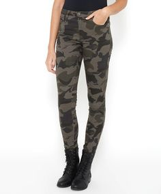 Camouflage skinny jeans juniors
