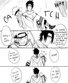 "Lol I cracked up when Sasuke says ""I'll drop you off a cliff"""