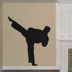 Taekwondo Sidekick Wall Decal