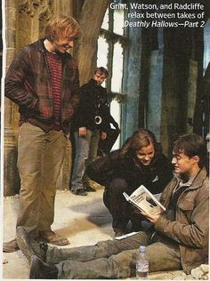 Harry's the one with the book. Wow.