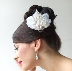 Wedding Head Piece Feather
