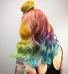 Rainbow hair for days x