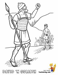 Heroes David And Goliath Coloring Pages Crafts Old Testament Colorful Pictures Lessons Sunday School Ministry Ideas