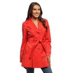 Via Spiga Women's Orang Belted Rain Trench Coat - Overstock™ Shopping - Top Rated Via Spiga Outerwear