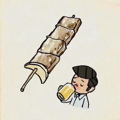 久留米の串焼き #イラスト