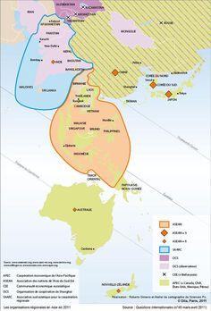 Les organisations régionales en Asie en 2011