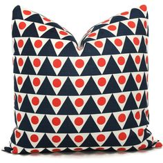 Studio Bon Blue and Red Pennant Decorative Pillow Cover 18x18 20x20... (65 CAD) ❤ liked on Polyvore featuring home, home decor, throw pillows, decorative pillows, grey, home & living, home décor, red throw pillows, european down pillows and blue throw pillows