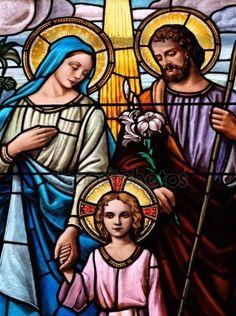 Sagrada Familia, vitral — Foto de Stock #132694416