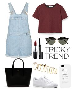 Tricky Trend: Overalls by anoukvos on Polyvore featuring polyvore, fashion, style, MANGO, Topshop, Puma, Lacoste, H&M, Ray-Ban, Christian Dior, MAC Cosmetics, clothing, TrickyTrend and overalls
